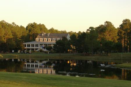 Sandpiper bay clubhouse with lake